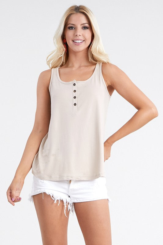 Classic Chic Tank with buttons