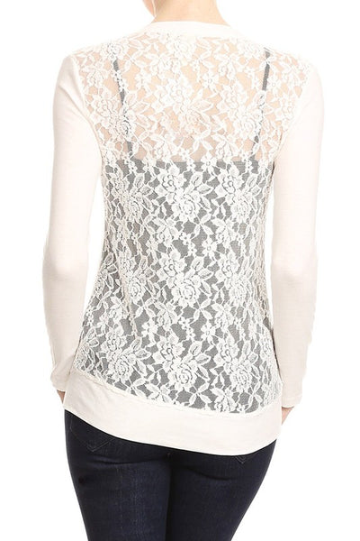 Houston Lace back cardigan
