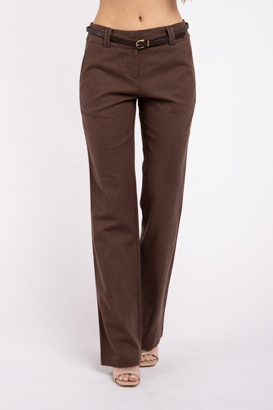 Linen Dress Slacks-straight leg