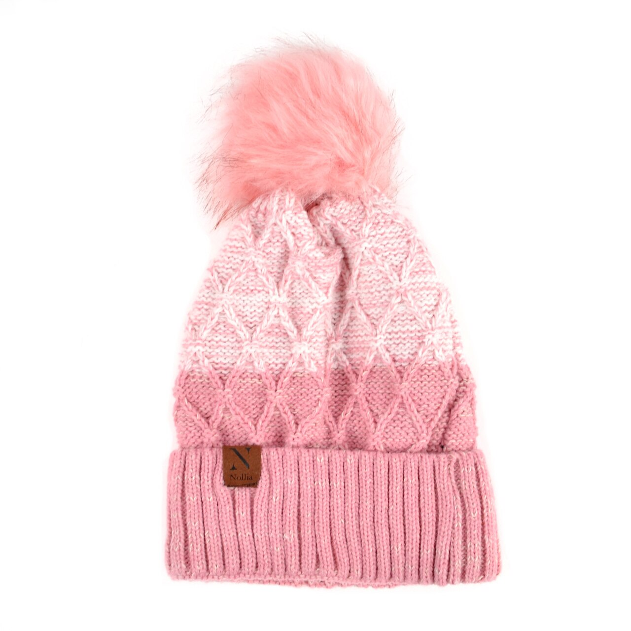 Split-Toned Pom Pom Stocking hat