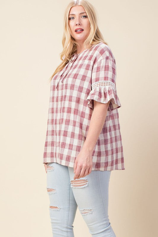 Raspberry Cream Plaid, Curvy