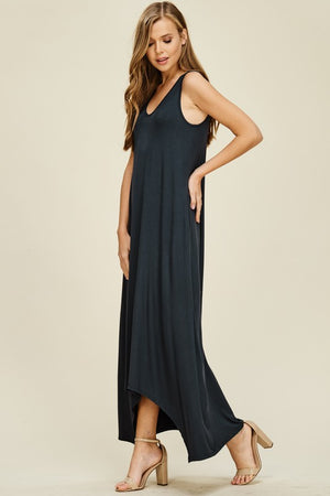 Long V Neck Tank t-shirt dress