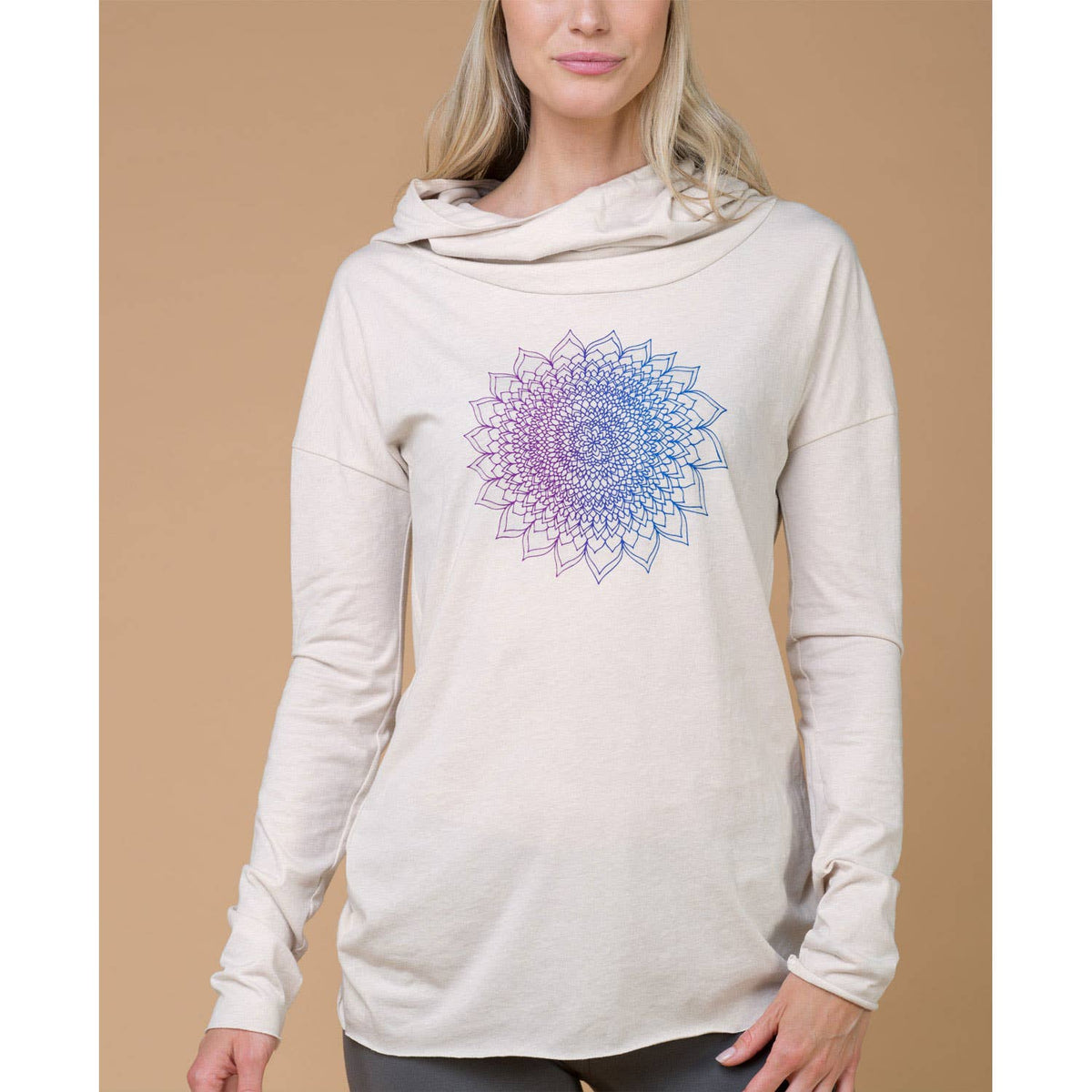 Thousand Petals Cowl Yoga Hoody