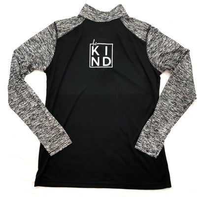 Performance quarter zip BE kind pullover