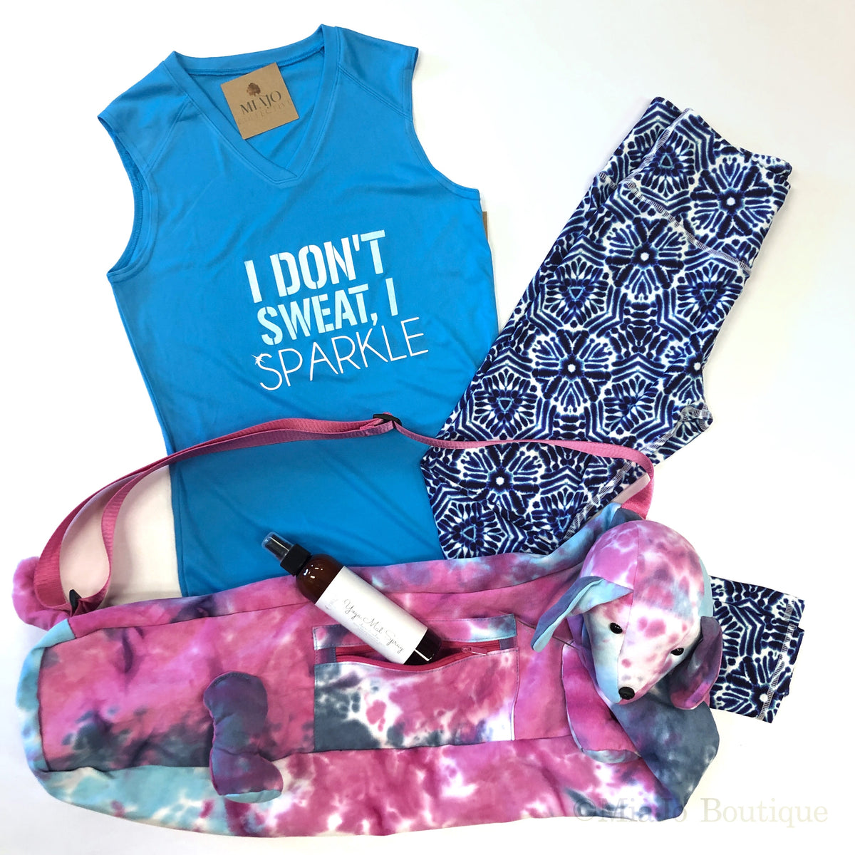 I Don't Sweat, I Sparkle Performance tank