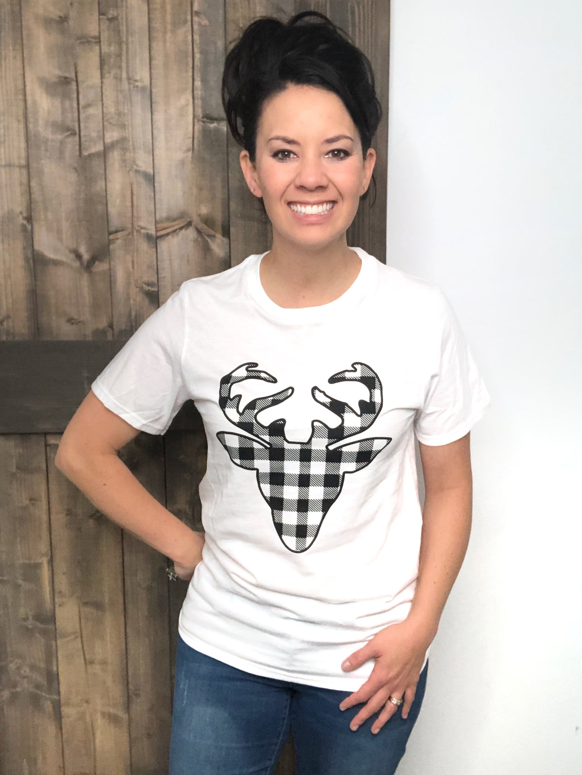 Deer Plaid Tee