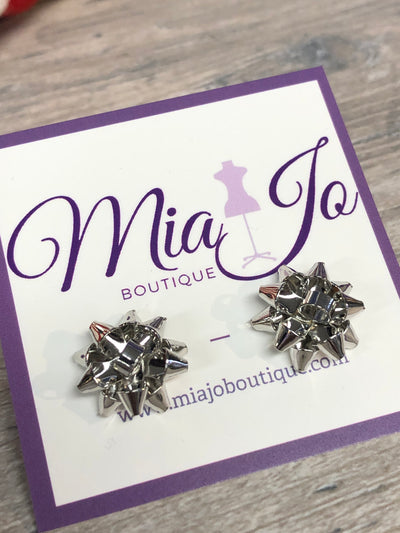 Christmas Bow Earrings