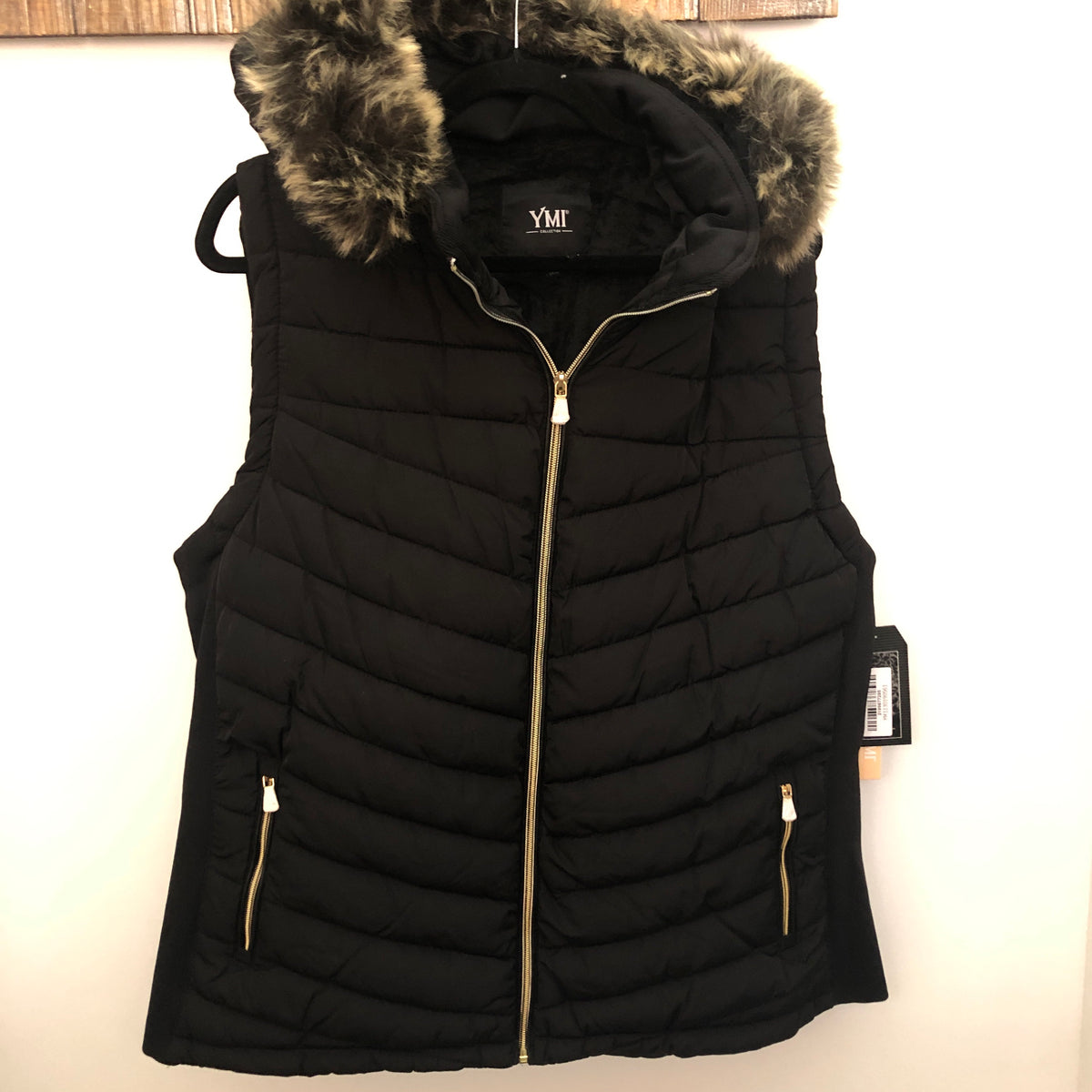 Sherpa Lined Vest with Removable Fur hood