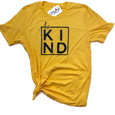 BE KIND crew neck tee