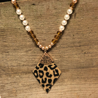 Take a walk on the wild side necklace & earring set