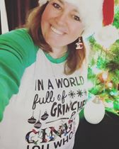 in a world full of grinches be a cindy lou who christmas tshirt