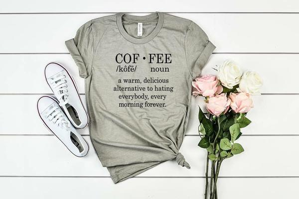 """Coffee"" Definition Coffee Lover T-Shirt"
