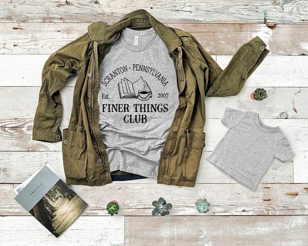 """Finer Things Club"" Funny T-Shirt"
