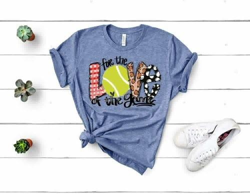 """For The Love Of The Game Tennis"" Tennis Lover T-Shirt"