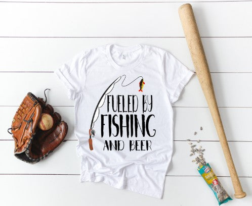 """Fueled By Fishing and Beer"" T-Shirt"