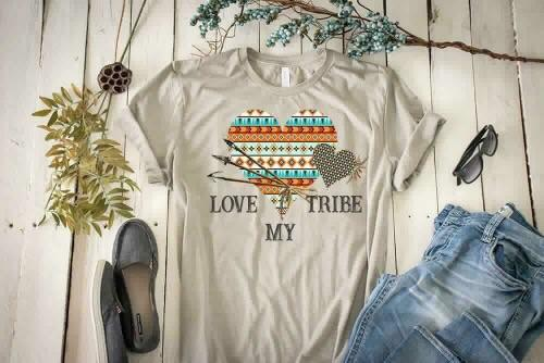 """Love My Tribe"" Inspirational T-Shirt"