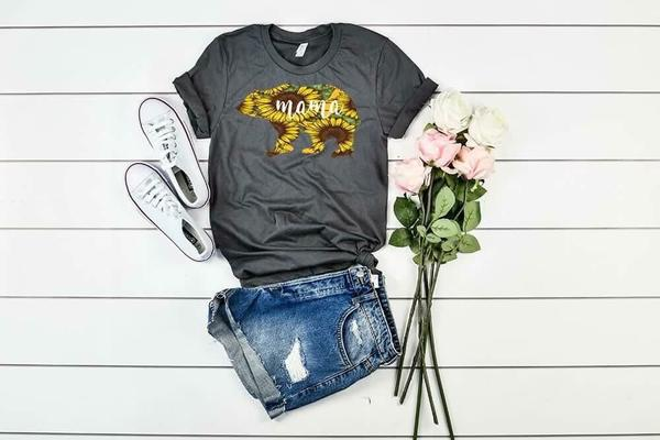 """Mama"" Bear Sunflower T-Shirt"