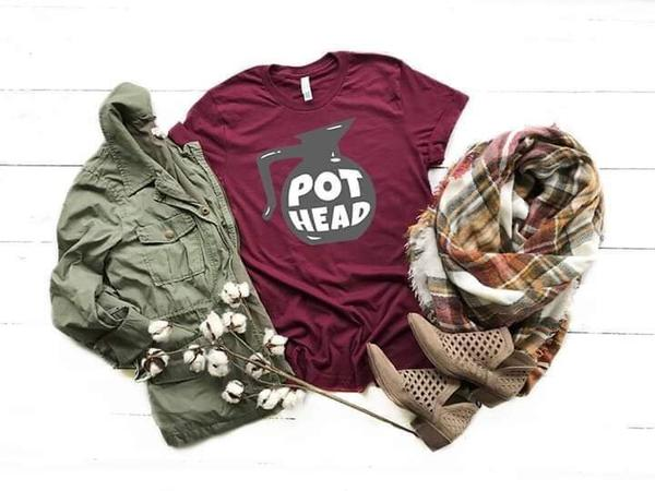 """Pothead"" Coffee Lover T-Shirt"