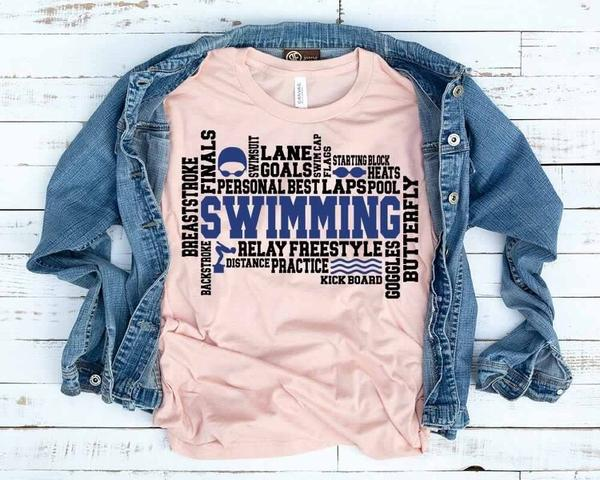 """Swimming"" Swim Lover T-Shirt"
