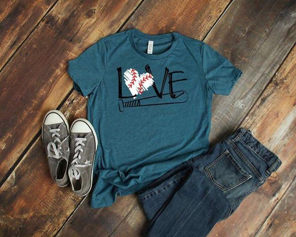 baseball love tshirt