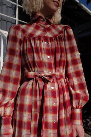 Rose Plaid Dress