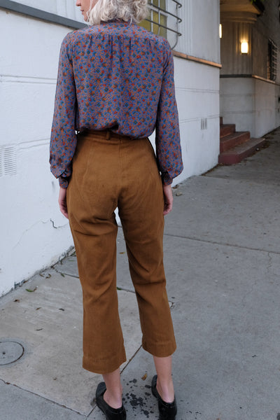 40's Side Button Canvas Pants