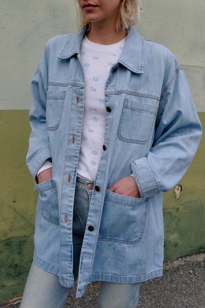 Oversized Denim Chore Jacket