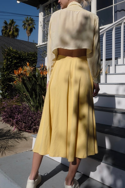 80's Canary Jersey Circle Skirt