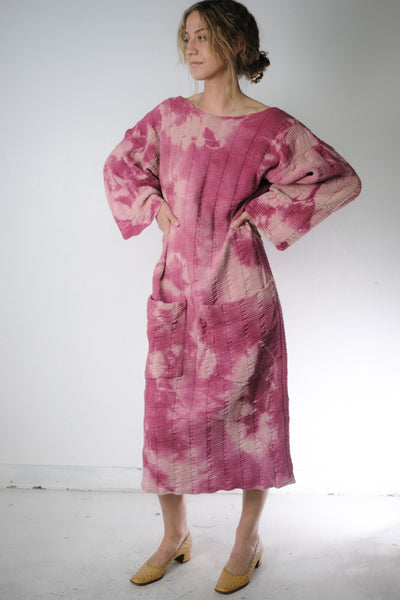 Oversized Hand Dyed Cotton Tunic Dress