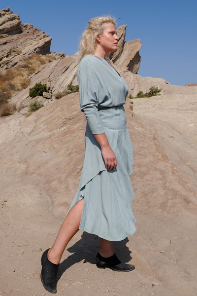 Blue Rayon Disco Dress