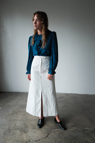 70's Cotton Maxi Skirt