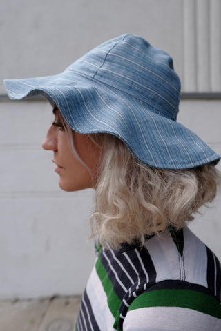 Canvas Stripe Bucket Hat