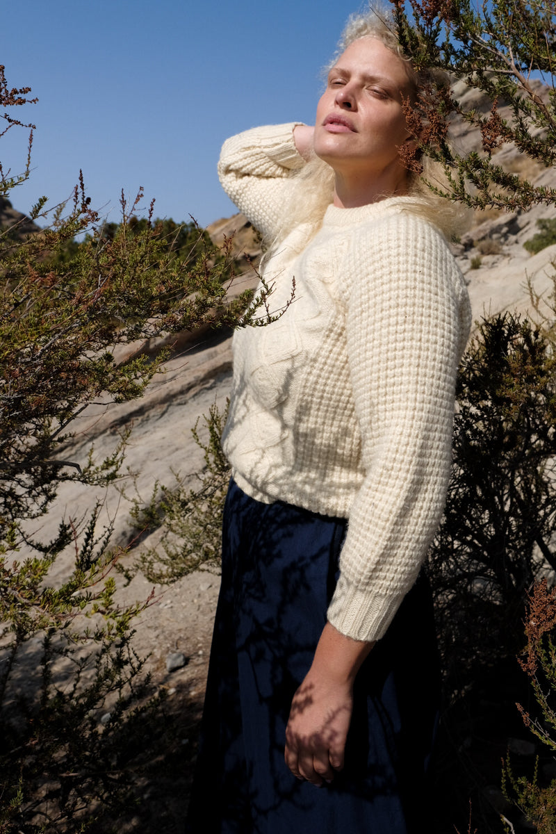 Chunky Wool Knit Sweater