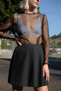 DKNY Pleated Wool Skirt