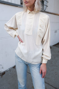 Gucci Cream Silk Blouse