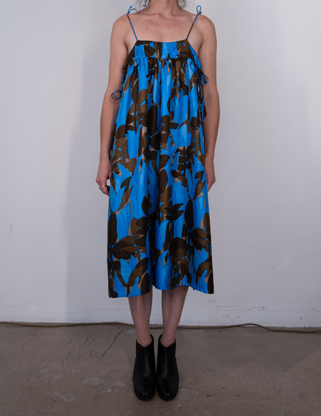 Ilish Silk Floral Sun Dress