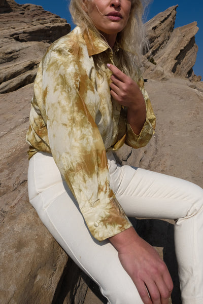 Tie Dye Galiano Silk Blouse
