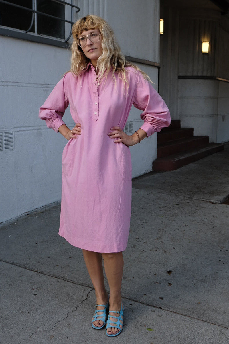 Yves Saint Laurent Pink Shirt Dress