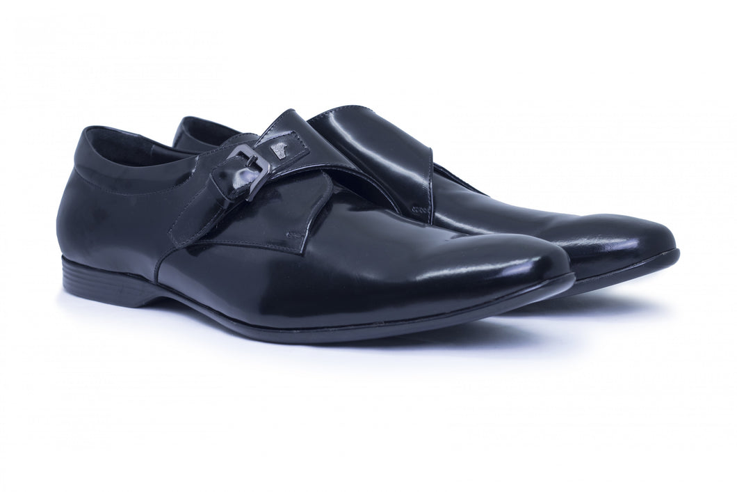 Versace Collection Mens Shiny Black Oxfords Dress Shoes V900418