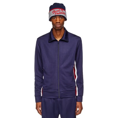 Navy Alpine Band Logo Tracksuit Top