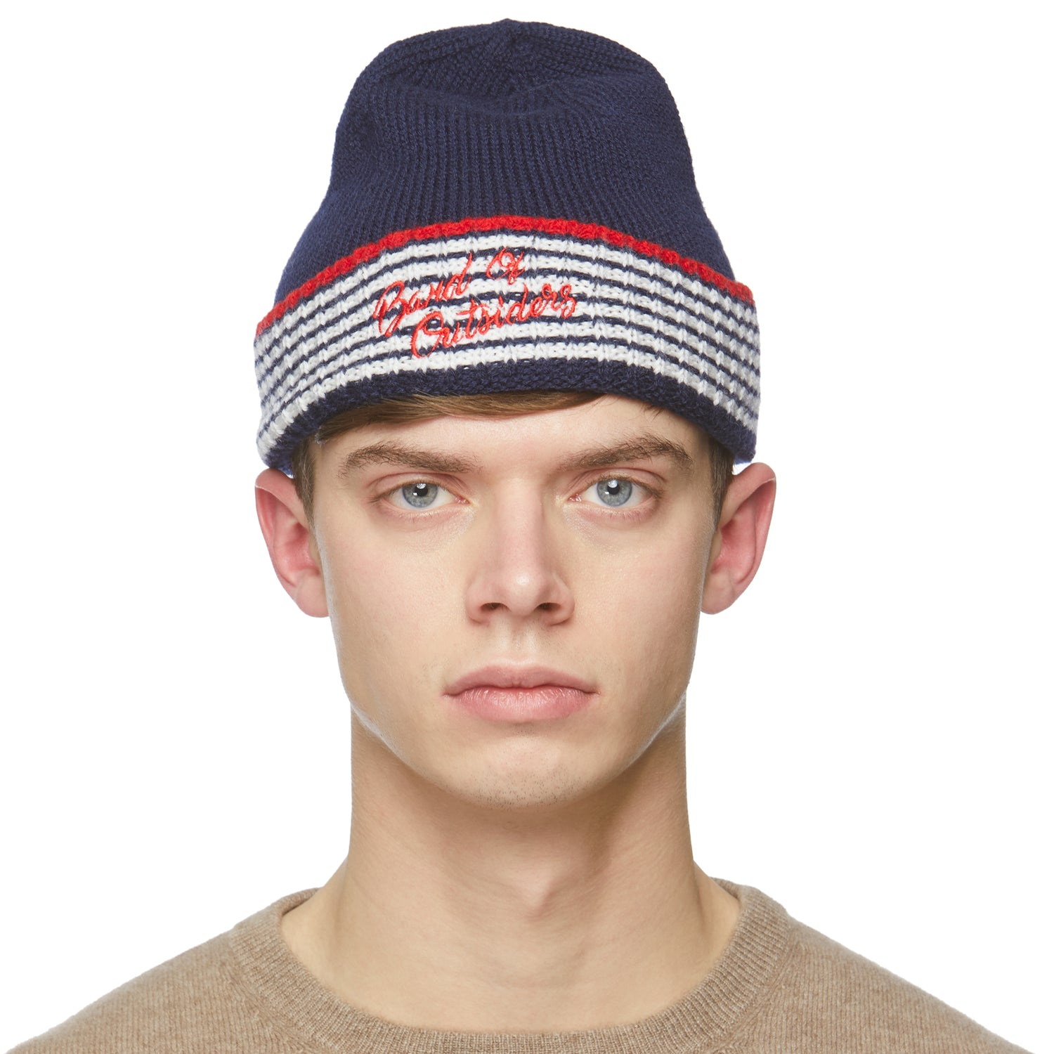 Navy Alpine Band Beanie