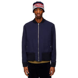 Embroidered Navy Bomber Jacket