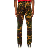 Camo Band Denim Trousers