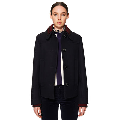 Navy Double Face Peacoat