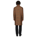 Houndstooth Long Wool Coat
