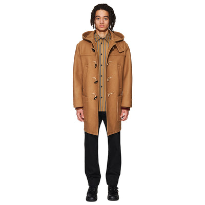Hooded Duffle Coat Camel