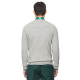 Grey Wool Skier Crew Neck