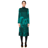 Pleated Dress Leaf Green