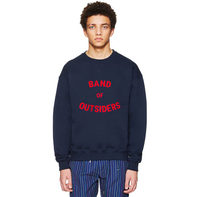 Navy Band Logo Chenille Sweater