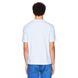 B LOGO WHITE/BLUE T-SHIRT